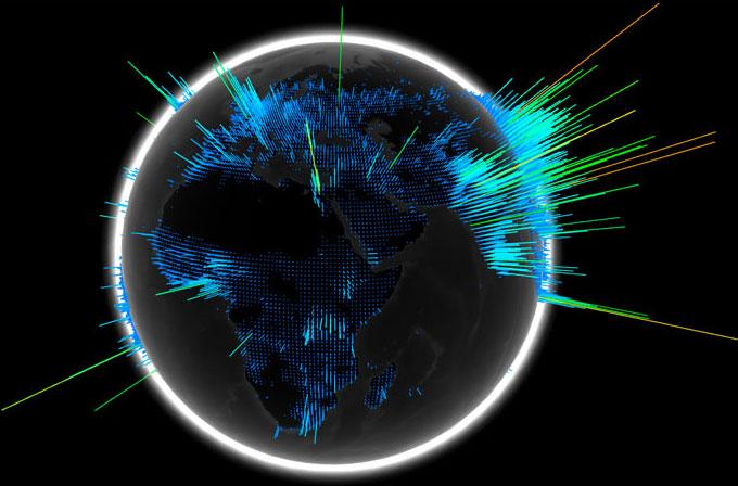 the WebGL globe
